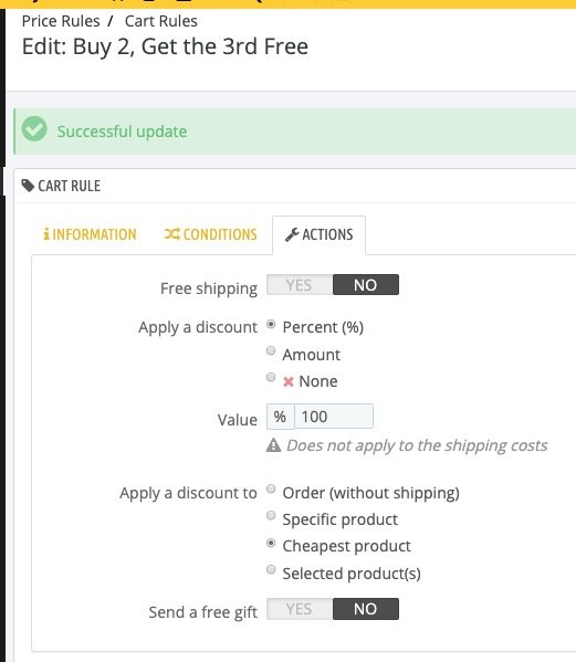 Cart Rule for buy 2 and get a 3rd free - settings page 3 - Actions.jpg